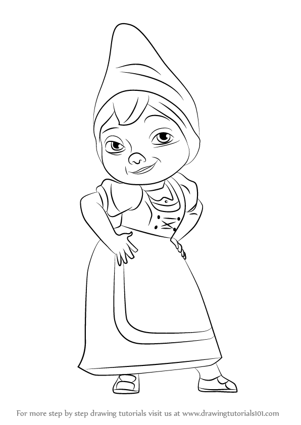 596x842 Learn How to Draw Juliet from Gnomeo amp Juliet (Gnomeo amp Juliet