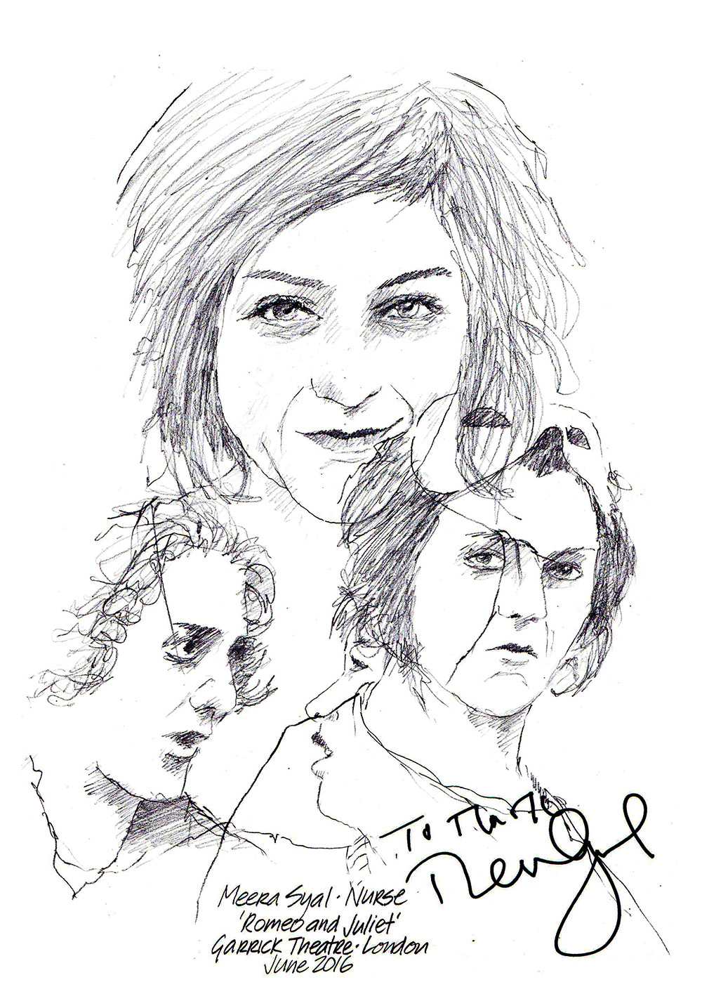 1000x1415 Drawing Meera Syal In Romeo And Juliet Chicanepictures