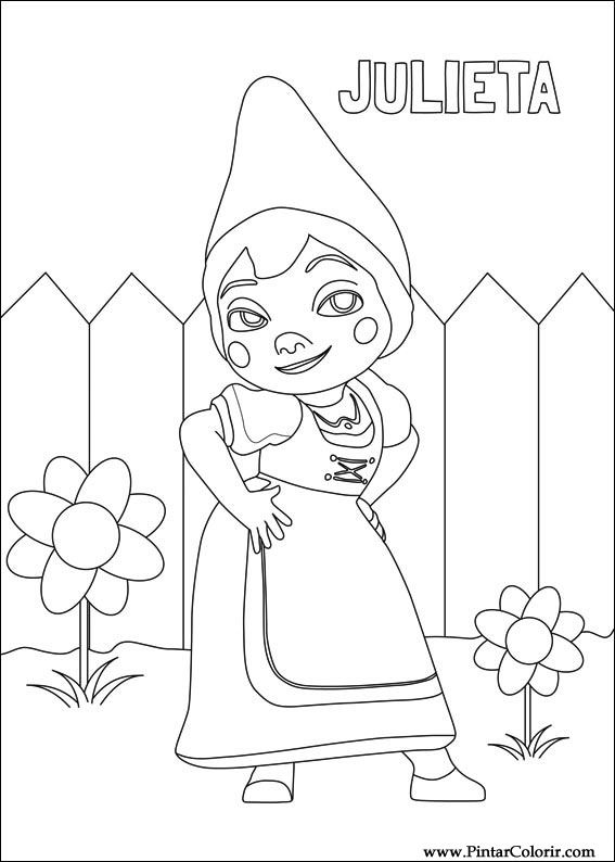 567x794 Drawings To Paint amp Colour Gnomeo Juliet