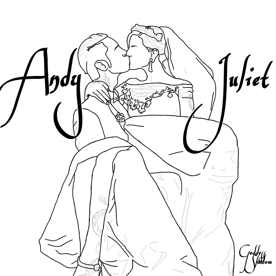887x887 FanArt (drawing) of Andy Biersack and Juliet Simms