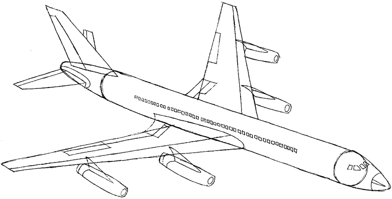 800x407 How To Draw An Airplane With Easy Step By Step Drawing Tutorial