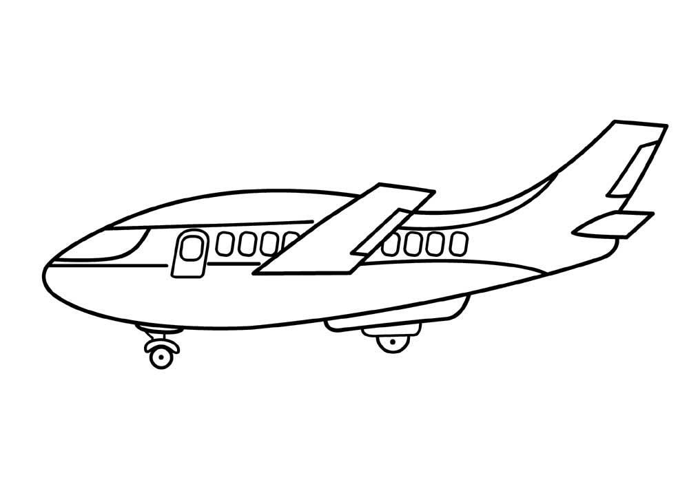 1000x713 Airplane Coloring Pages To Print For Free