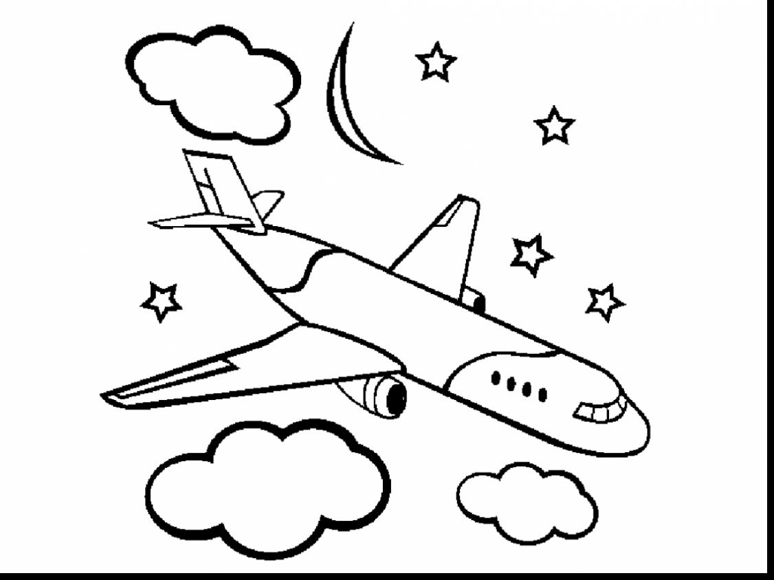 1126x844 Awesome Airplane Coloring Pages Printable With Jet Coloring Pages