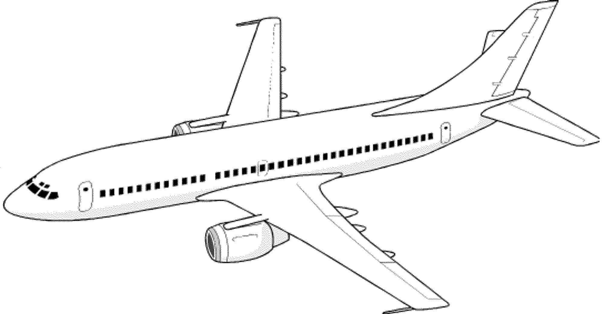 2000x1040 Coloring Pages Jet Coloring Page Fun