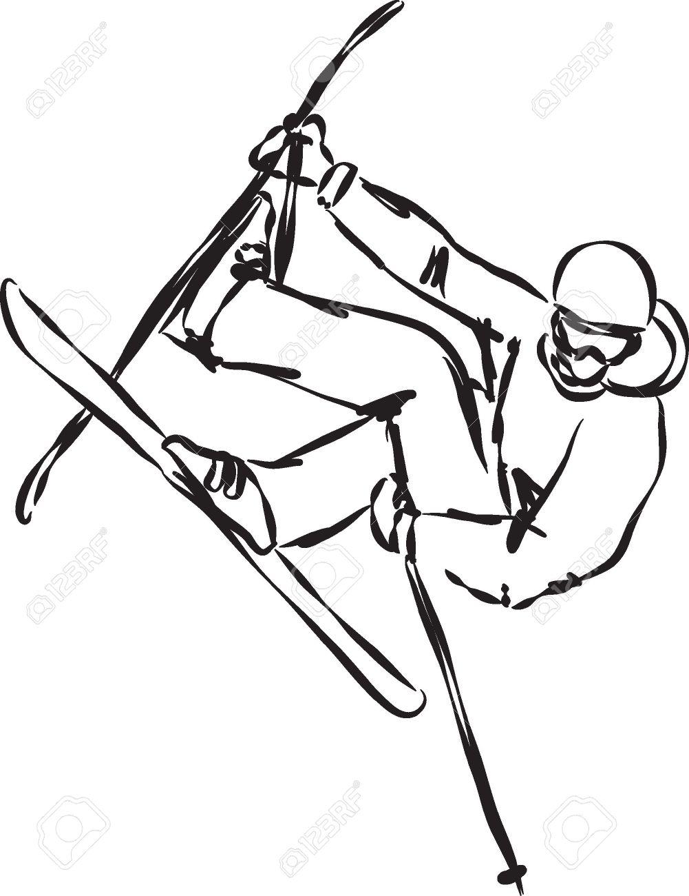 1001x1300 Ski Jump Illustration 2 Royalty Free Cliparts, Vectors, And Stock
