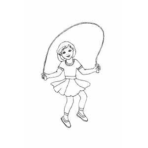 300x300 Girl Jumping Rope Coloring Sheet