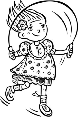 320x480 Girl Jumping Rope Coloring Page Free Printable Coloring Pages