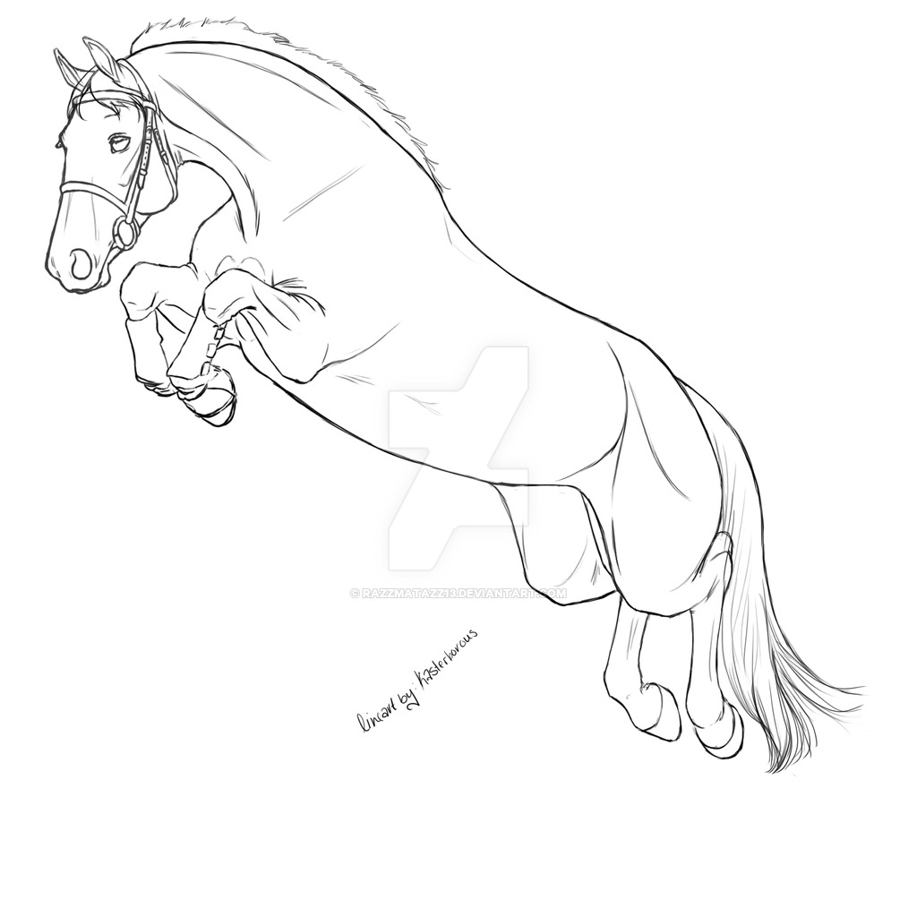 1024x1024 Horse Jumping Drawing Horse Jumping Lineart Razzmatazz13