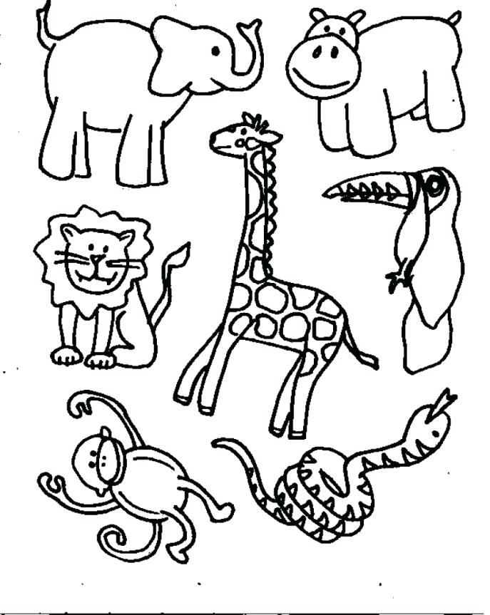 687x863 Jungle Animals Coloring Page Lovely Jungle Animals Coloring Pages