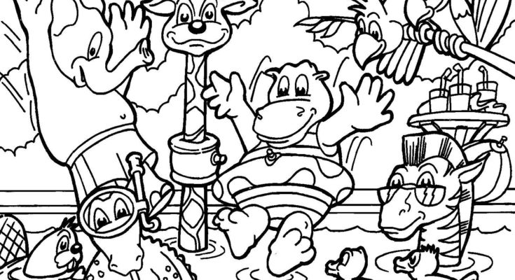 735x400 Animal Coloring Jungle Animal Coloring Page Ocean Jungle Animal