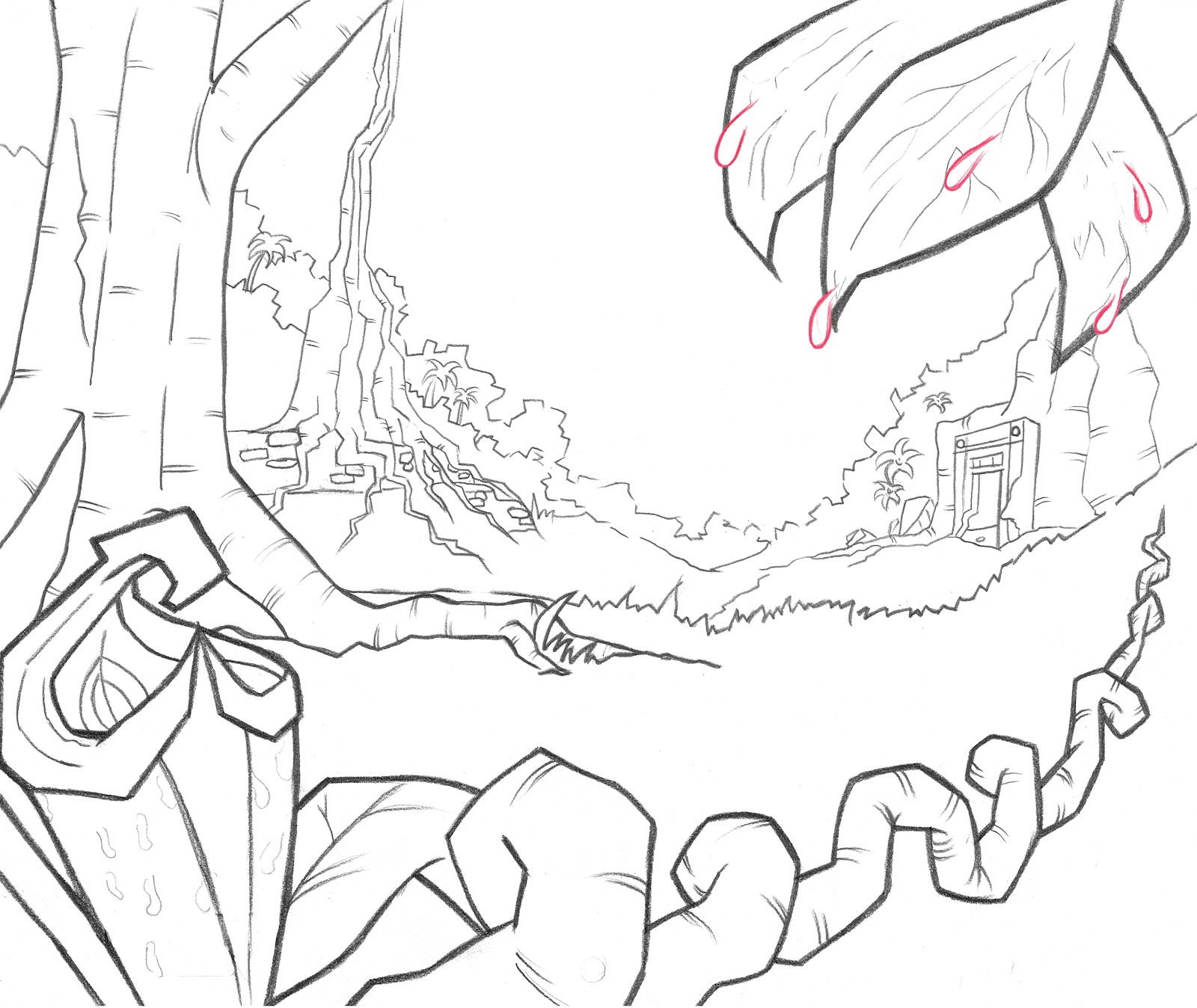 Jungle Background Drawing