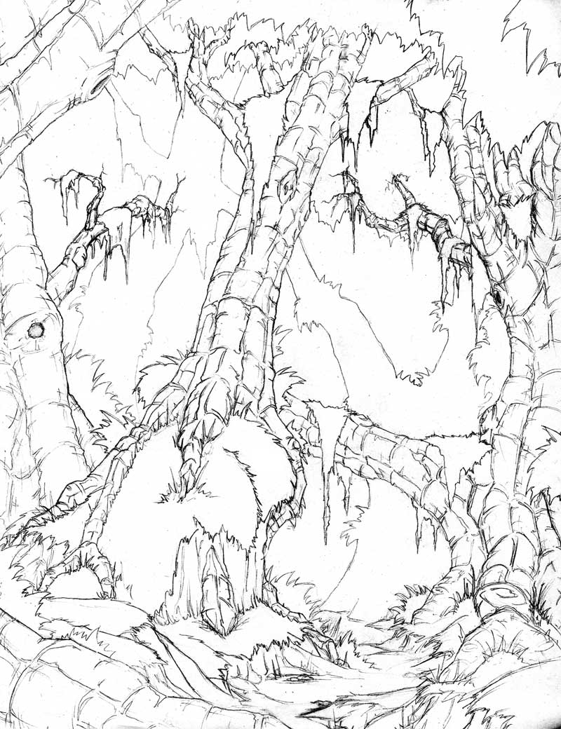 800x1040 Jungle Environment Sketch