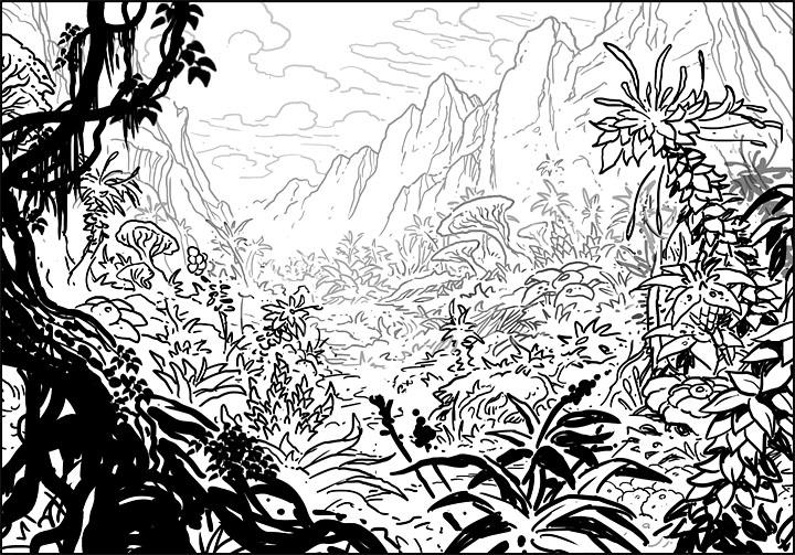 Jungle Drawing