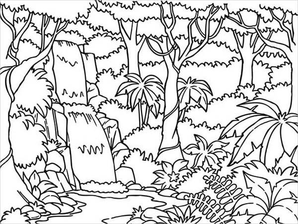 600x450 Jungle Coloring Pages 9 Jungle Coloring Pages Jpg Ai Illustrator