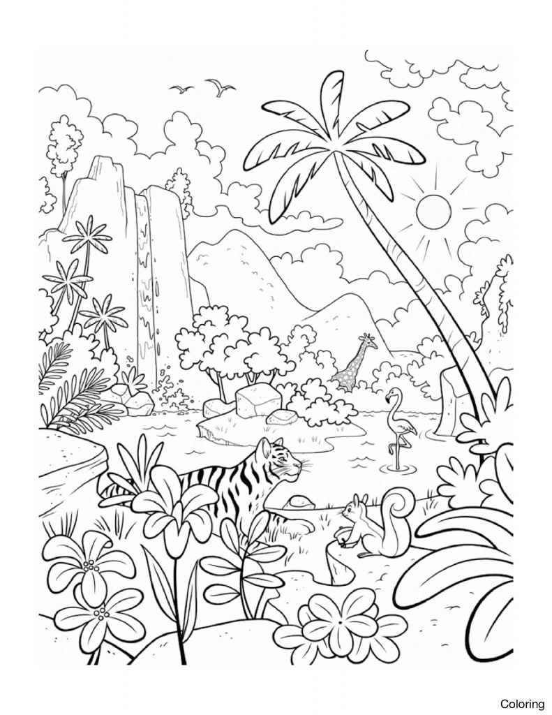 Jungle Drawing For Kids At Getdrawings Com Free For Personal Use