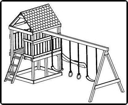 415x341 Jungle Gym And Playhouse Swing Set Plans 5 I Am Going To Do This