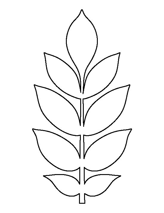 Jungle leaf drawing at getdrawingscom free for personal for Jungle leaf templates to cut out