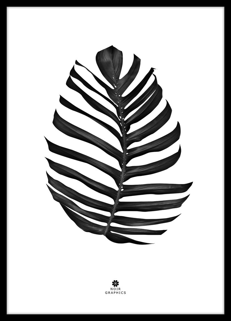 739x1024 Jungle Leaf Black Malerifabrikken