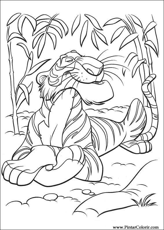 567x794 Drawings To Paint Amp Colour The Jungle Book