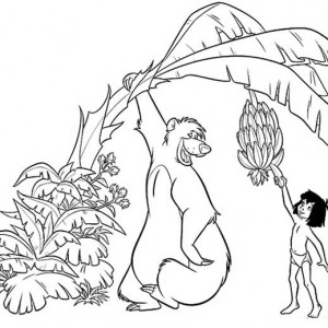 300x300 How To Draw Mowgli And Hathi In Jungle Book Coloring Pages Bulk