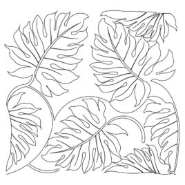 268x268 Jungle Leaf Coloring Page Kids Drawing And Coloring Pages