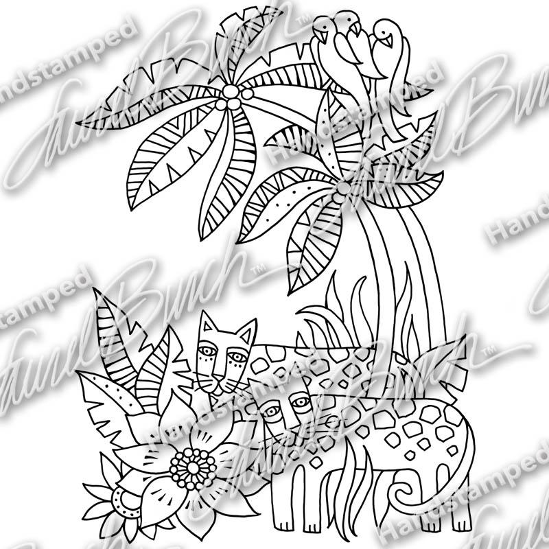 800x800 Jungle Leaves Metal Stencil