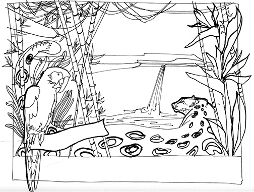 Jungle Scene Drawing