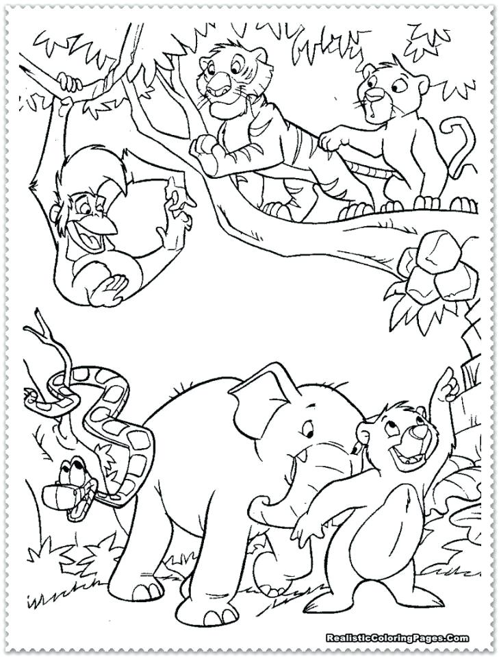 729x959 Jungle Coloring Page Monkey Hanging On Snake Coloring Page Jungle
