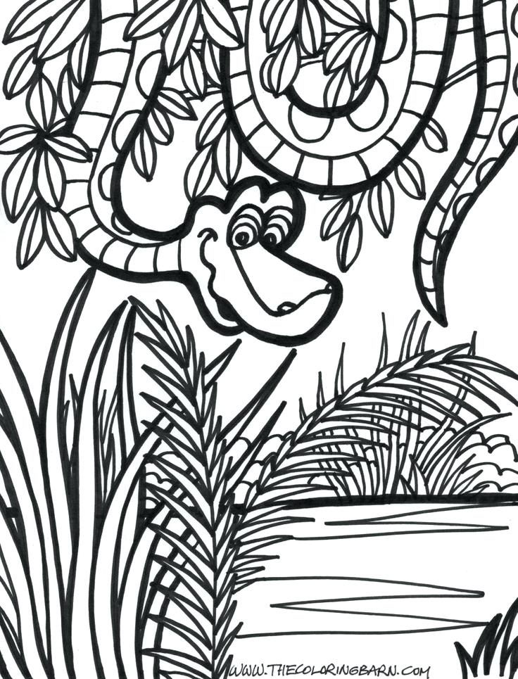 736x965 Jungle Coloring Pages Free Tree Coloring Nice Preschooler Jungle
