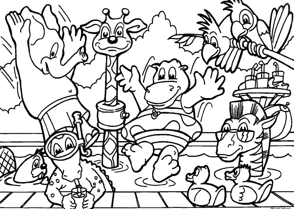 1024x729 Jungle Printable Coloring Pages As Top Printable Jungle Animals