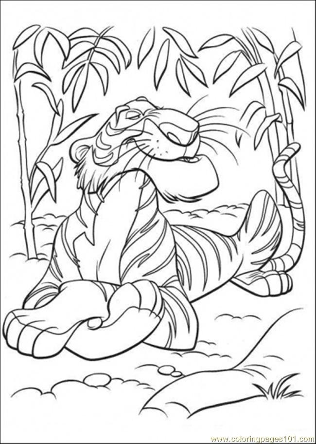 650x912 Jungle Scene Coloring Pages 424980