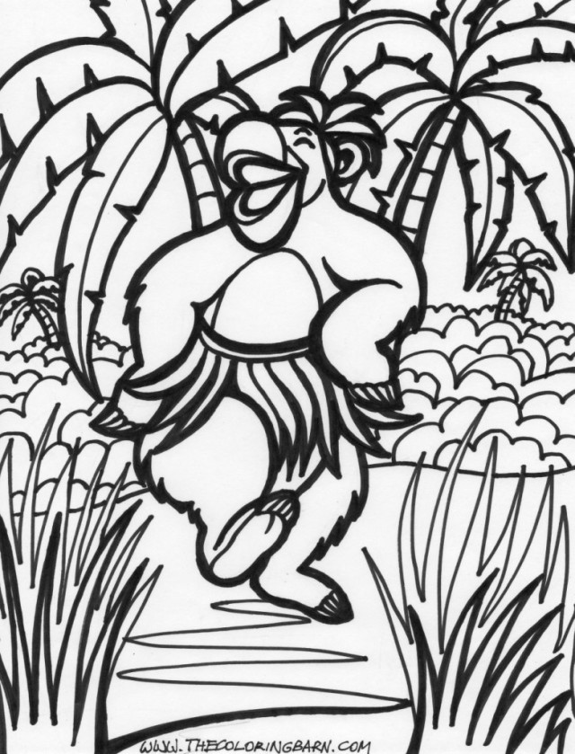 640x839 Jungle Scene Coloring Pages 424983