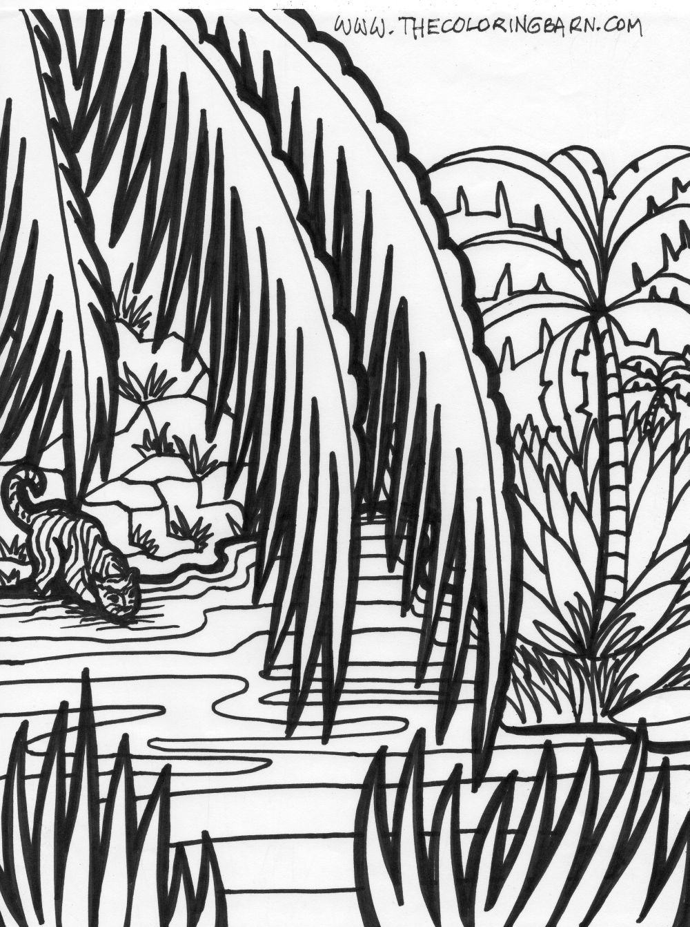 1000x1342 Jungle Scene Coloring Pages Pages Sheets And Pictures Bible
