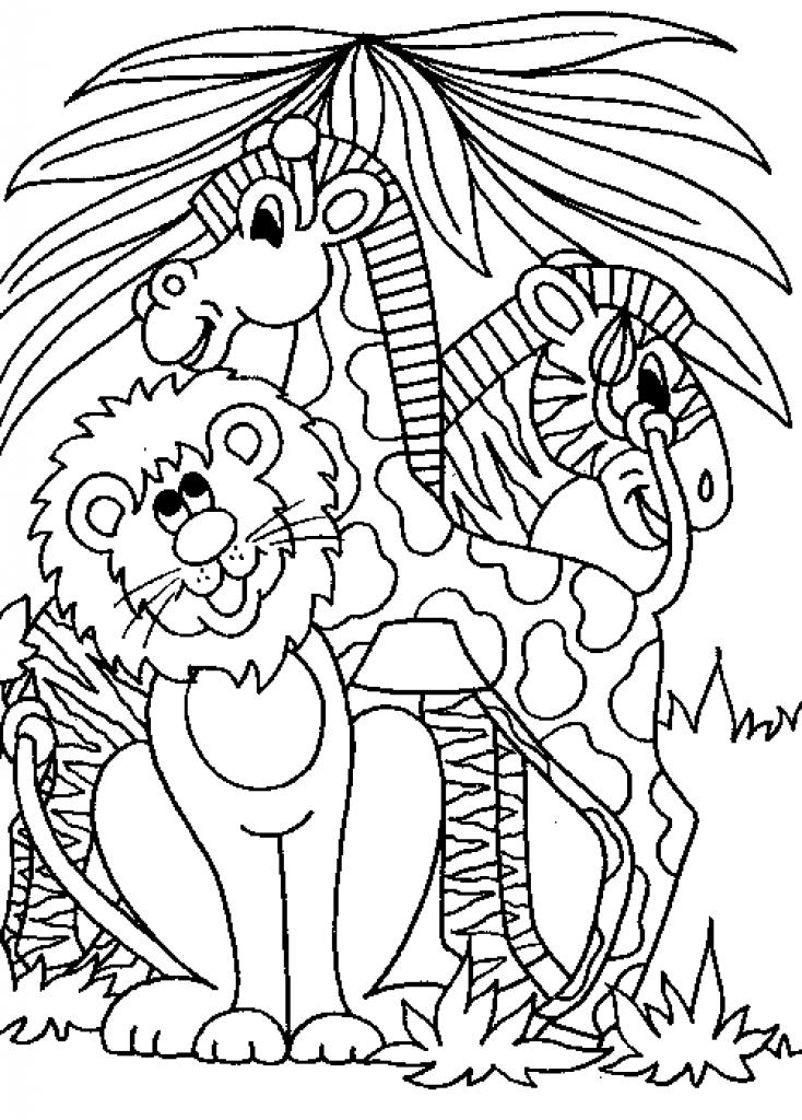 734x1024 Jungle Scene Unique Jungle Printable Coloring Pages