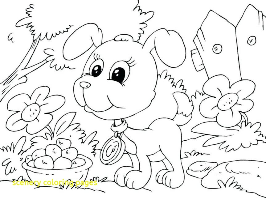 863x647 Scenery Coloring Pages Coloringpageforkids.co