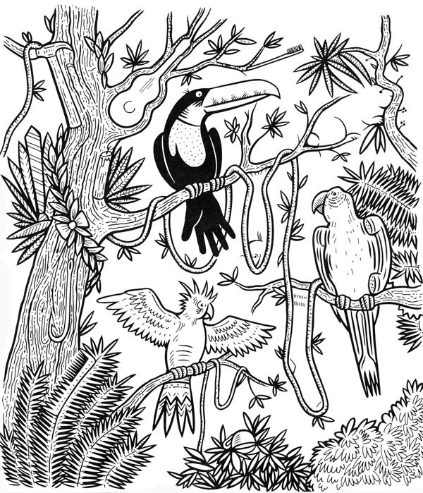600x699 From Kids' Big Book Of Games Jungle Quest