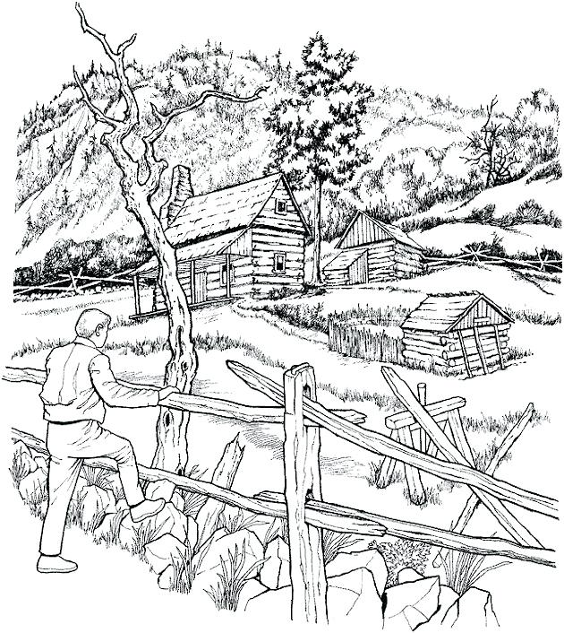 630x706 Jungle Animal Scene Coloring Pages Detailed Landscape For Adults
