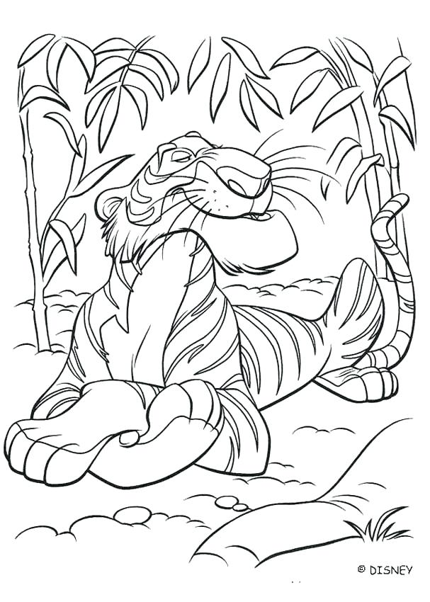 607x850 Jungle Coloring Book As Well As Jungle Book Pictures To Print