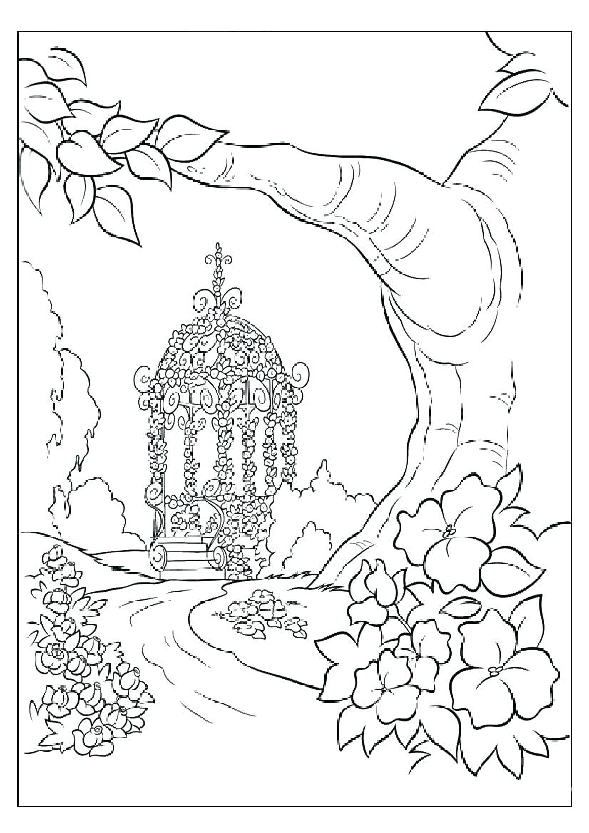826x1169 Coloring Jungle Scene Coloring Pages