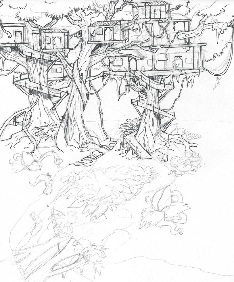 814x981 Jungle Tree City By Raiinbowraven