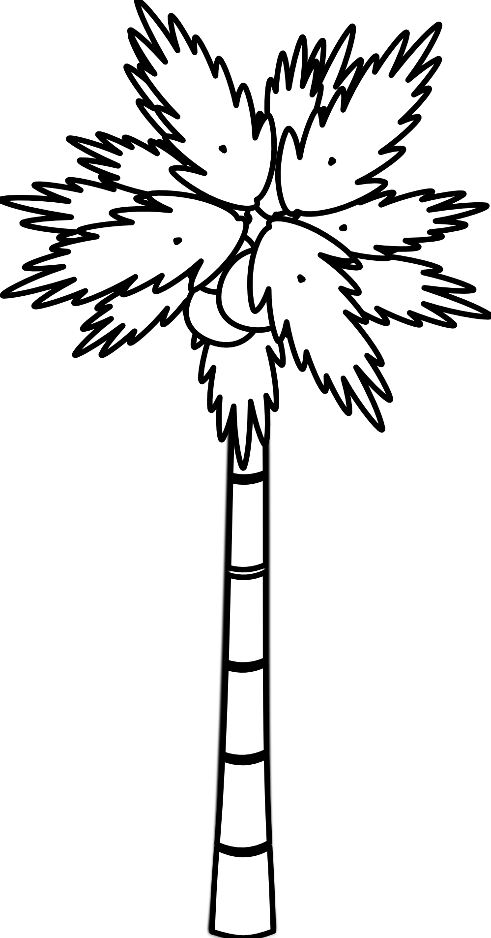 999x1906 Jungle Tree Clipart Black And White