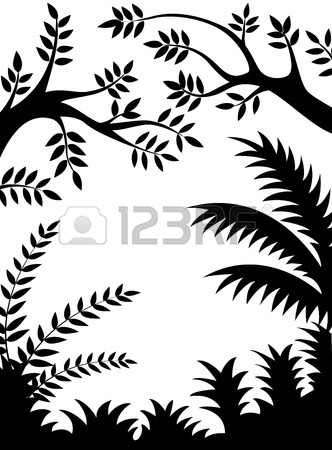 332x450 Silhouettes Of Tree With Its Roots Royalty Free Cliparts, Vectors