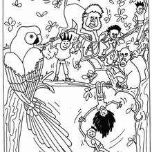 220x220 Baby Monkey In The Tree Coloring Pages