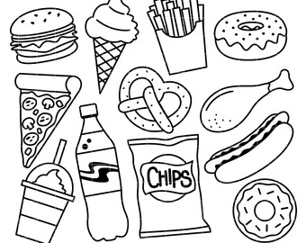 Junk Food Drawing At GetDrawings.com | Free For Personal Use Junk Food Drawing Of Your Choice