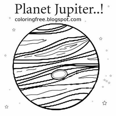 400x400 Jupiter Coloring Page