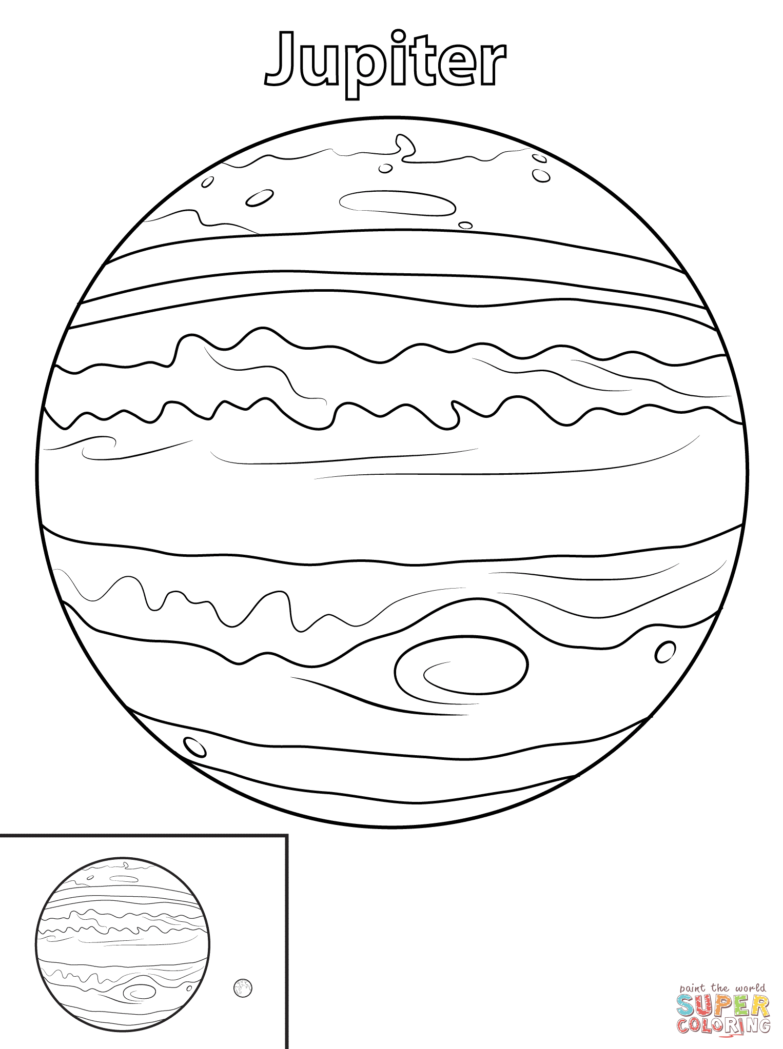 1526x2046 Jupiter Planet Coloring Page Free Printable Coloring Pages