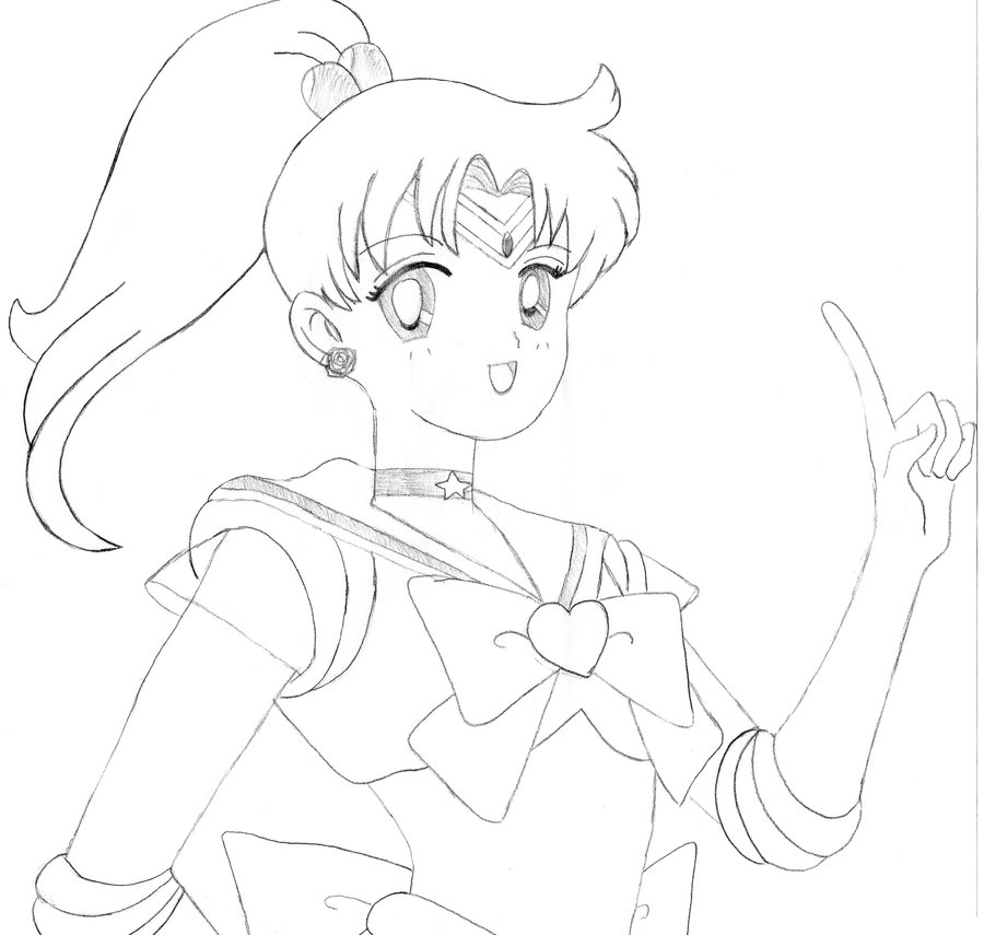 900x855 Sailor Jupiter Drawing By Strawberrybreeze