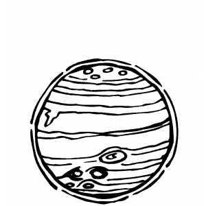 300x300 Small Jupiter Coloring Page