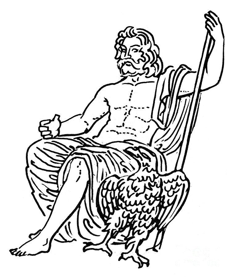 752x900 Zeus Jupiter Drawing By Granger