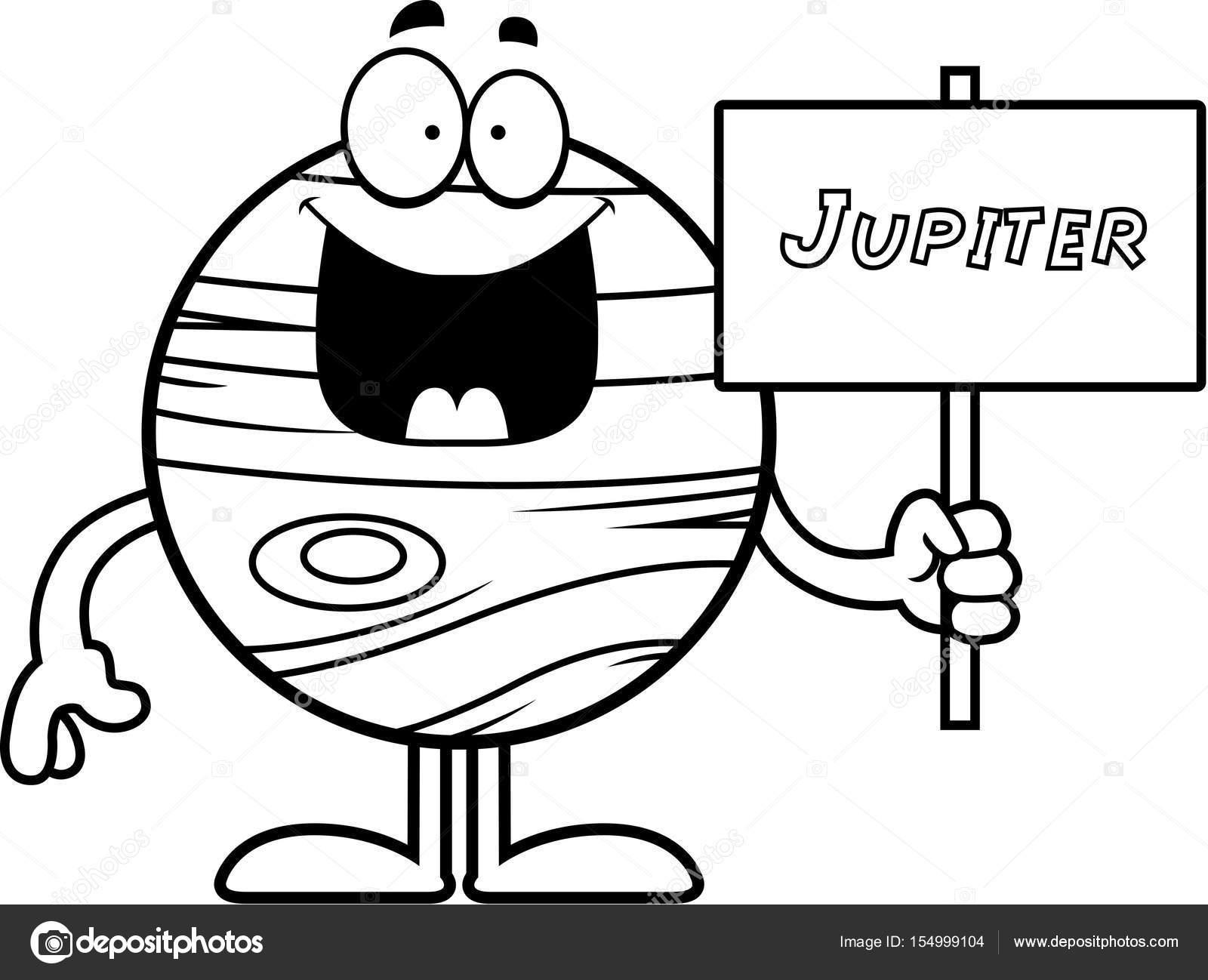 1600x1298 Cartoon Jupiter Sign Stock Vector Cthoman